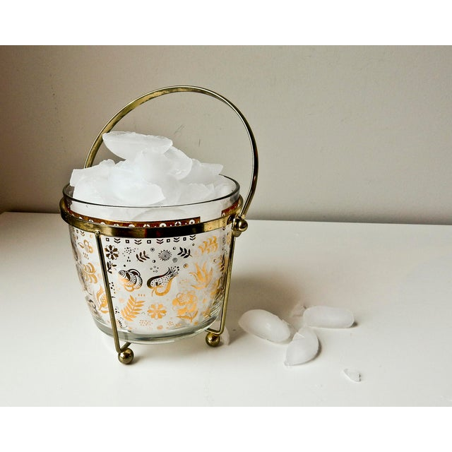 Georges Briard Glass 24K Gold Ice Bucket - Image 3 of 7
