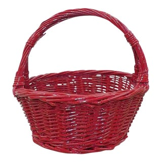Red Wicker Basket