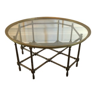 Hollywood Regency Baker Furniture Coffee Table For Sale