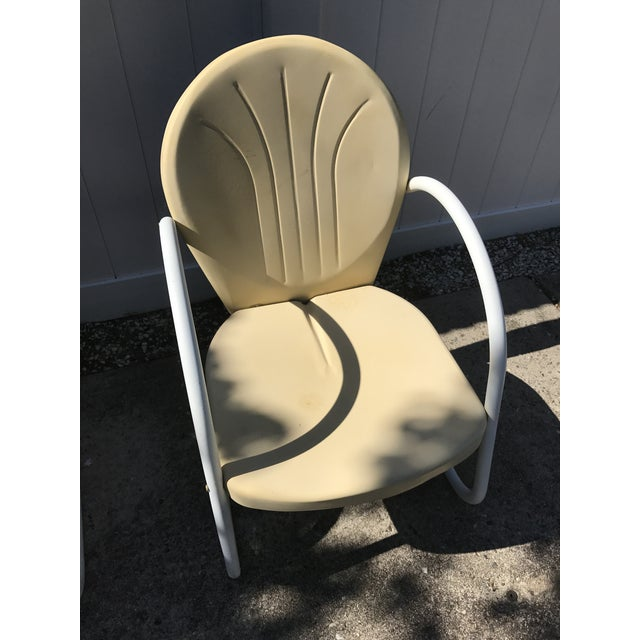 Mid-Century Modern Vintage 1945 Outdoor Lounge Chairs - A Pair For Sale - Image 3 of 6