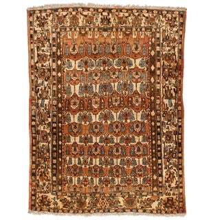 Antique Persian Isphahan Rug For Sale