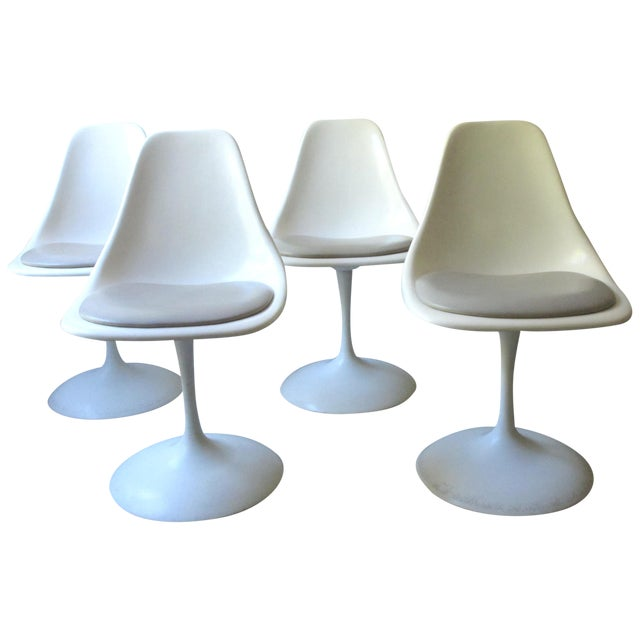 Mid-Century Tulip Burke Dining Swivel Chairs - S/4 - Image 1 of 9