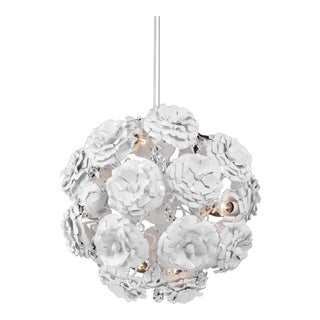 Brand Van Egmond Love You Love You Not Chandelier in Matte White, Small For Sale