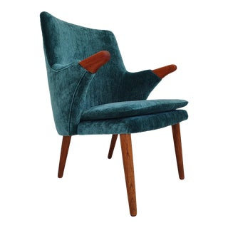 Danish Vintage Armchair, Completely Reupholstered, 60s For Sale