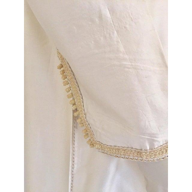 Moroccan Elegant Luxury Dupiono Silk Caftan Gown Maxi Dress For Sale - Image 10 of 13
