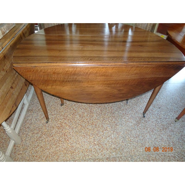 French Walnut Epoch Directoire Dining Table For Sale - Image 3 of 12