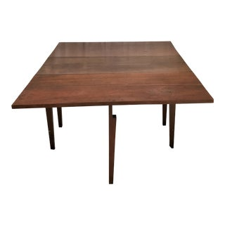 Ca 1850 American Hand Crafted Solid Walnut Dining Table