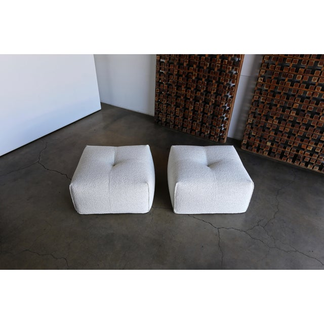 """Mario Bellini """" Le Bambole """" Ottomans for B&B Italia, circa 1985. This pair has been professionally restored. The listed..."""