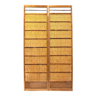 Japanese Sugi Yoshido Connected Doors - 2 Pieces For Sale