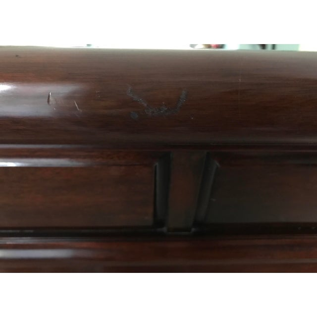 Chippendale Henkel Harris Mahogany King Sleigh Bed For Sale - Image 12 of 13