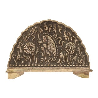 Repousse Thistle Letter Holder For Sale