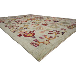 """Turkish Oushak Modern Contemporary Style Rug - 10' X 14'1"""" Preview"""