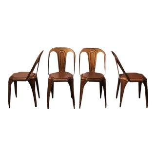 Fibrocit Art Deco Belgian Industrial Metal Chair