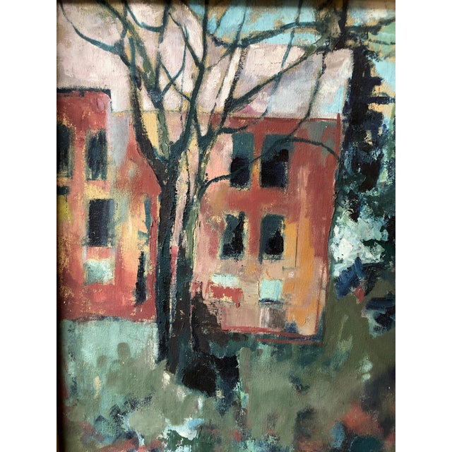 1970s Mid Century Modern Landscape Painting by Dini For Sale In Seattle - Image 6 of 8