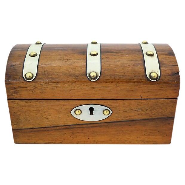 Antique English Tea Box For Sale