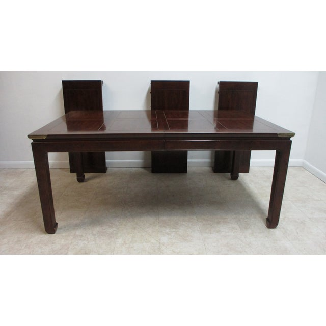 Chippendale Chippendale Henredon Pan Asian Dining Room Conference Table For Sale - Image 3 of 13