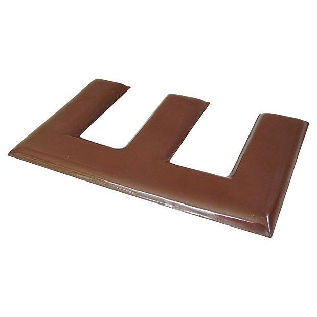 Large 1950s Chocolate Brown Porcelain Letter E - Image 4 of 5