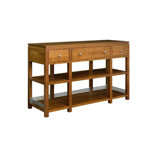 Arts and Crafts Sunset Hills Collection Borkholder Cherry Console Table For Sale - Image 10 of 10