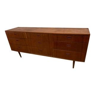 Mid-Century Modern Teak Dresser, Chest or Credenza by Falster Denmark For Sale