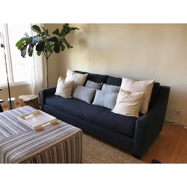 Navy Blue Custom Sofa - Image 7 of 8