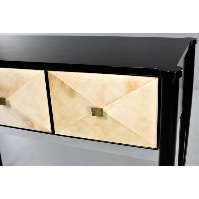 Bespoke Ebonised Console With Vellum Drawers For Sale In Detroit - Image 6 of 13