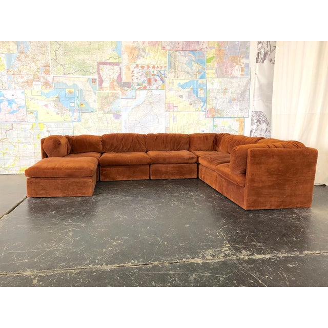 Eight Piece Modular Sofa by Milo Baughman for Thayer Coggin For Sale In Dallas - Image 6 of 13