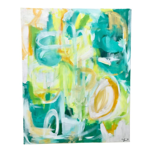 """Christina Longoria """"El Yunque"""" Abstract Painting For Sale"""