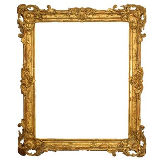 19th Century French Louis XV Style Gilt Carved Frame For Sale