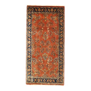 "Pasargad NY Sarouk Design Hand Knotted Rug - 2'5"" x 5'"