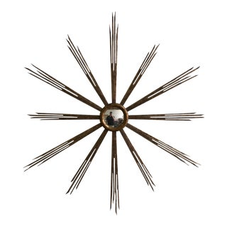 Large Round Starburst Mirror For Sale