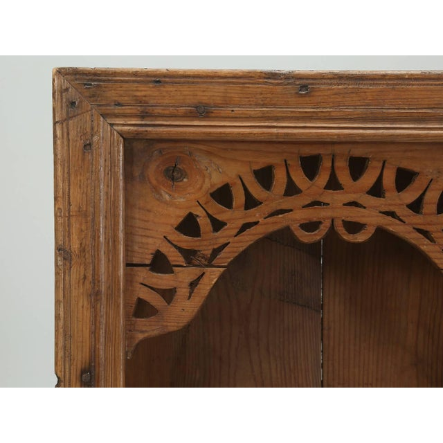 Country Antique Pine Hanging Shelf Unit, or Open Cupboard For Sale - Image 3 of 9