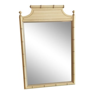 1960s Chinoiserie Faux Bamboo Mirror For Sale