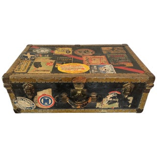 Vintage Steamer Trunk by Excelsior For Sale