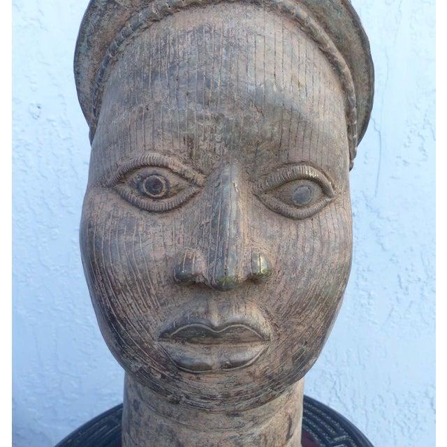 Bronze Head of an Ife Queen Mother - Image 3 of 9