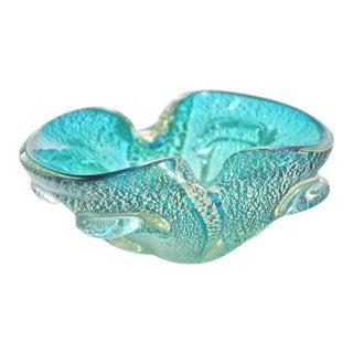 Murano Aqua & Gold Bowl