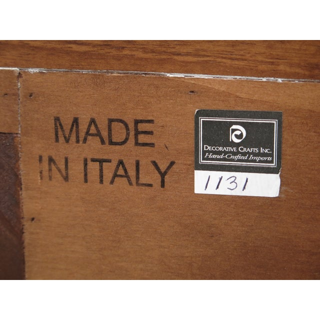 Decorative Crafts Italian Walnut Chest For Sale - Image 12 of 13