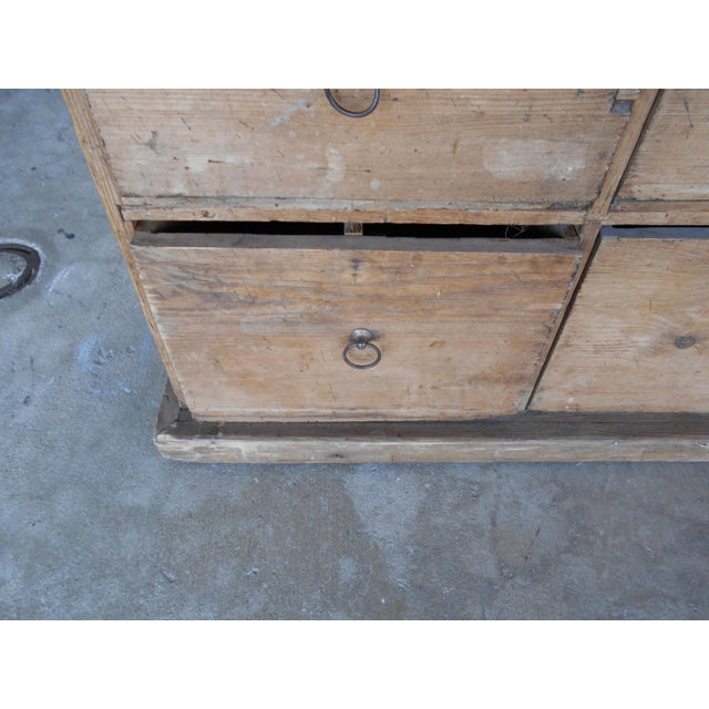 Pine 24 Drawer Pine Apothecary Cabinet For Sale - Image 7 of 10