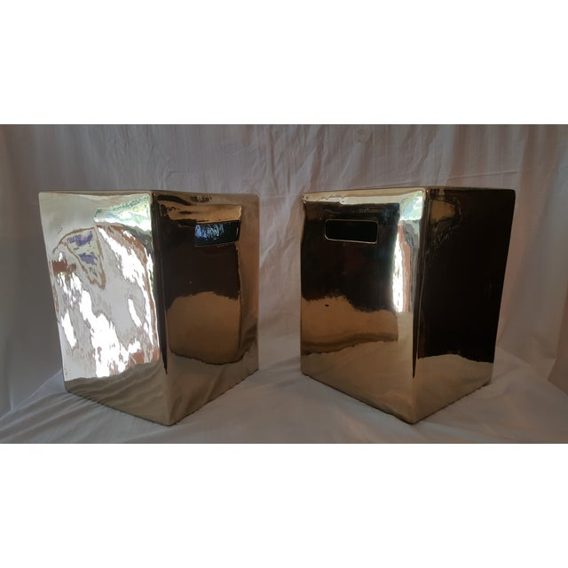 Set of Gold Garden Stools - Pair - Image 5 of 5