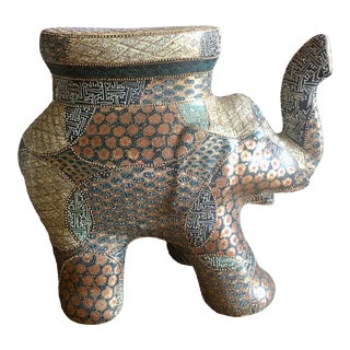 Chinese Ceramic Elephant Garden Stool For Sale