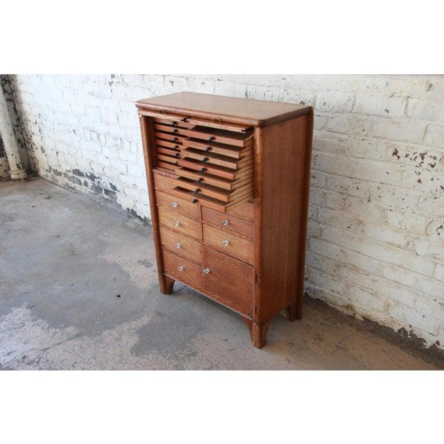 Antique Oak 22-Drawer Dental Cabinet For Sale - Image 4 of 13 - Superior Antique Oak 22-Drawer Dental Cabinet DECASO