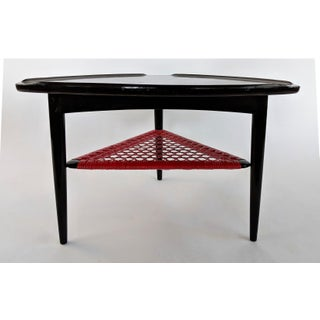 Danish Modern Poul Jensen for Selig Triangular Side Table With Asian Flair Preview
