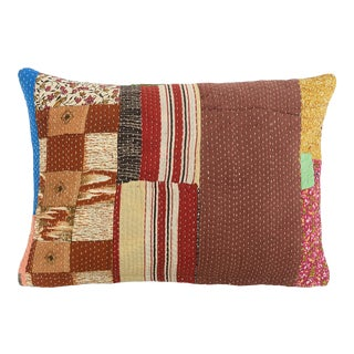 1960s Boho Chic Puzzle Pillow For Sale
