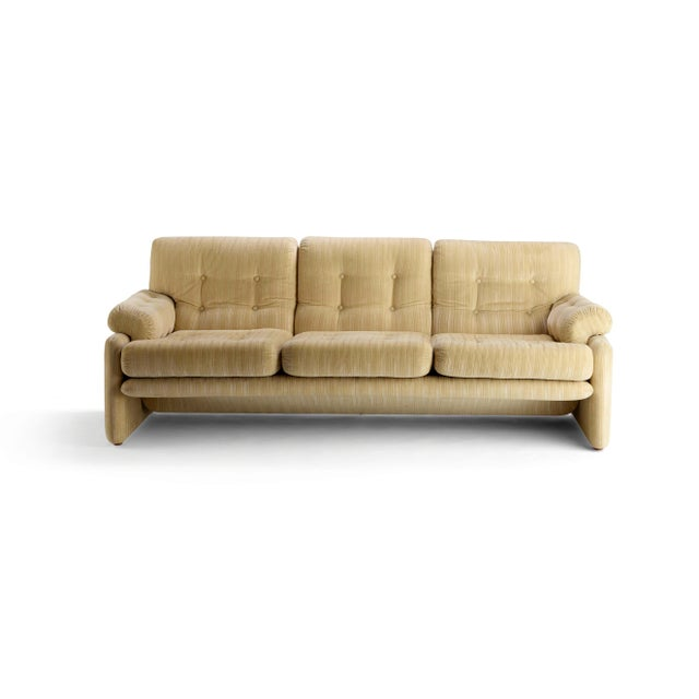 Vintage Tabia and Afra Scarpa for C&b Italia 3 Seat Sofa For Sale In Houston - Image 6 of 6