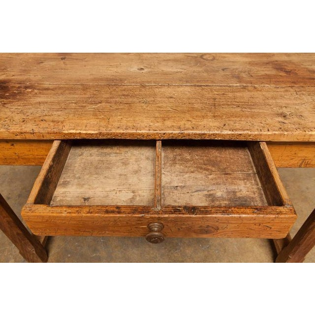 19th Century French Farmhouse Kitchen Table & Leaves - Image 7 of 10