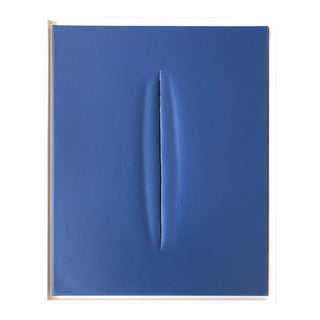 Unique Blue Modern Art Painting by Tony Curry For Sale