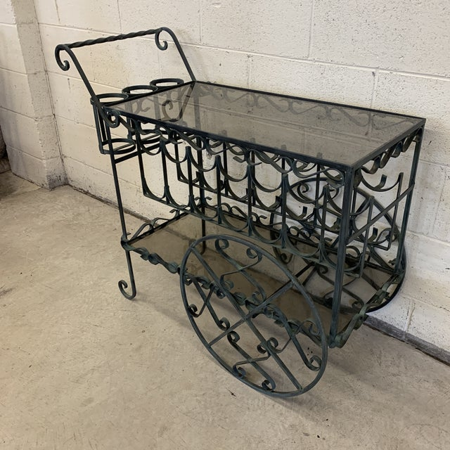 So there are tea carts and then there are tea carts and liquor bottle carts. Which do you prefer? This one does double...