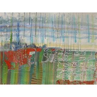 """Josette Urso """"Bog Rain"""" Watercolor Painting C. 2018 For Sale"""