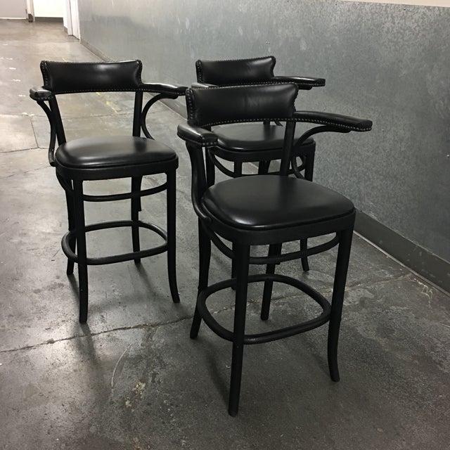 Restoration Hardware Vienna Cafe Barstools - Set of 3 - Image 3 of 10