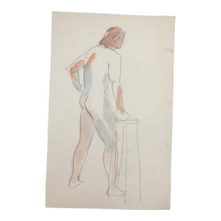 Standing Male Nude, Life Class 1980s For Sale