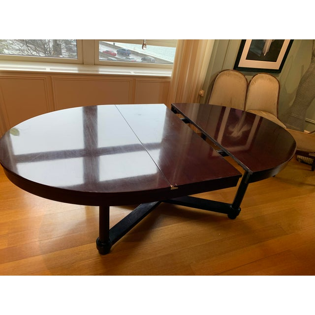 Brown Round Baker Dining Table Barbara Barry Baker for Mahogany Ambassador Round or Oval Dining Table For Sale - Image 8 of 13
